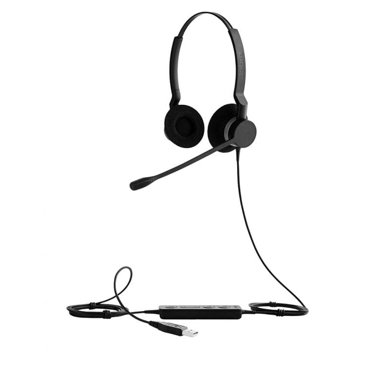 Image of Jabra Biz 2300 USB Headset - MS, Stereo, USB-A, Noise Cancelling Microphone (2399-823-109)