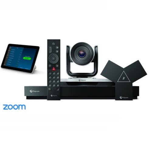 Poly G7500 + Poly EagleEye IV-12X Camera + TC8 Touch Controller Zoom Video Conference Bundle (Large Room)