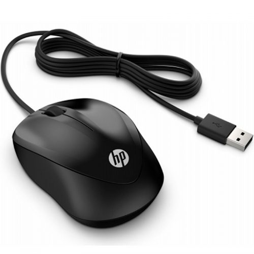 HP 4QM14AA 1000 Wired USB Mouse - Black