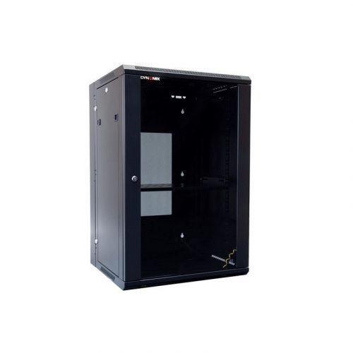 DYNAMIX 18RU Wall Mount Cabinet RSFDS18-600 - 600m Deep Universal Swing with Removable Back Mount 600 x 600 x 901mm
