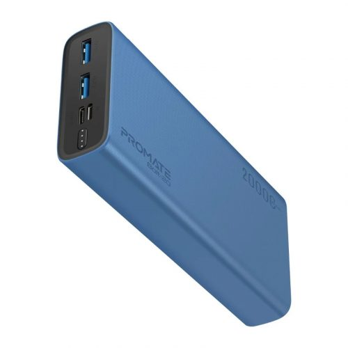 Promate Bolt-20 Blue Charging Power Bank with Dual USB Output