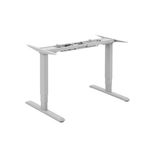 Brateck Grey Electric Desk - Sit-Stand Desk Frame with Dual Motors (M06-23RGRY)