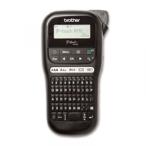 Brother PTH110BK Compact Handheld Labelling Machine